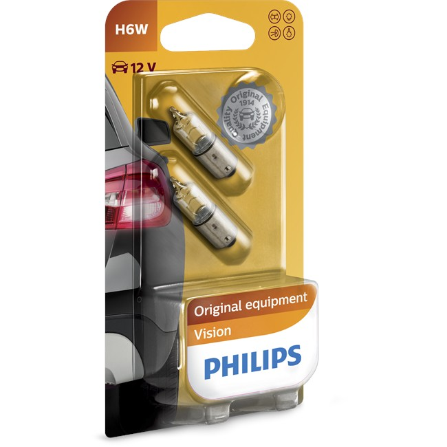 2 Ampoules Philips H6w 6 W 12 V