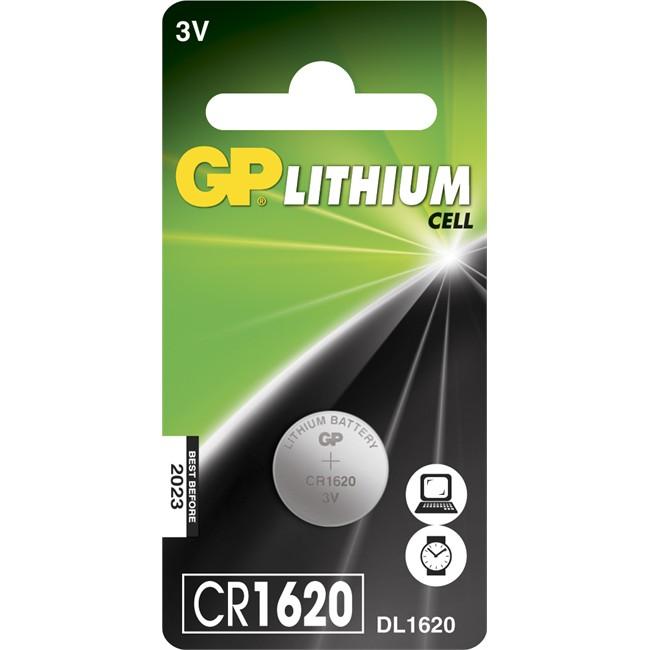 1 Pile Bouton 3v Cr1620 Gp Lithium