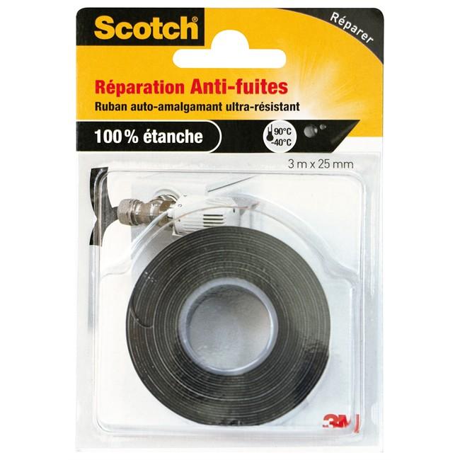 Ruban Adhésif De Réparation Anti-fuites Auto-amalgamant 25 Mm X 3 M Scotch
