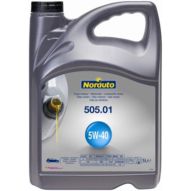 Huile Moteur Norauto 5w40 505.01 Essence Et Diesel 5 L