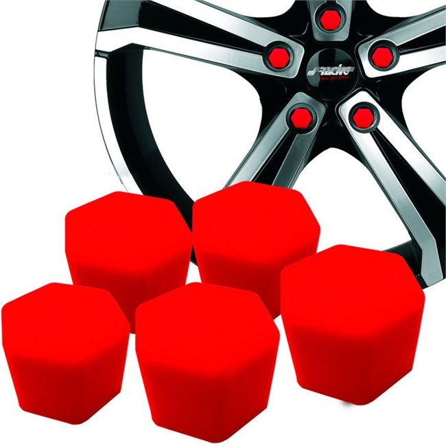 20 Couvres Boulons Silicone Rouge Sracing Diamètre 19