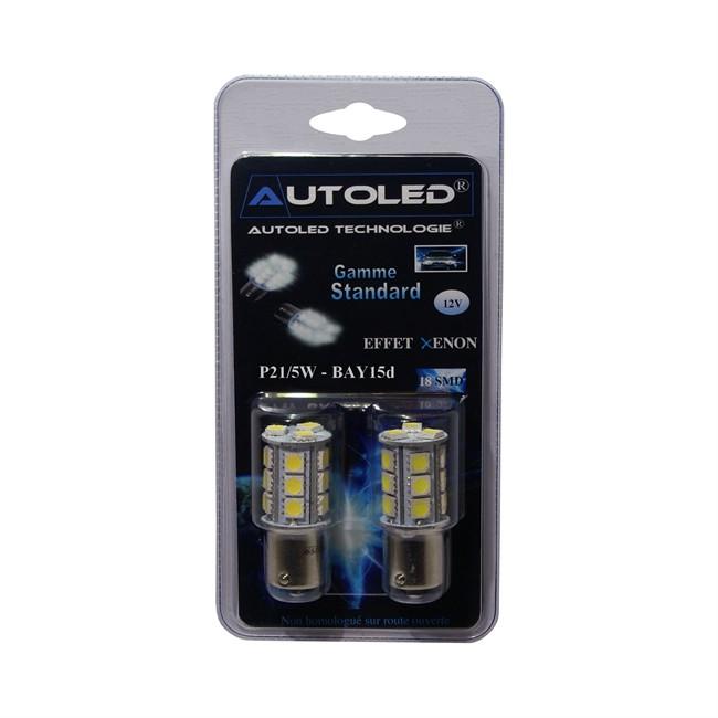 2 Ampoules Autoled P21/5w-bay15d Blanc