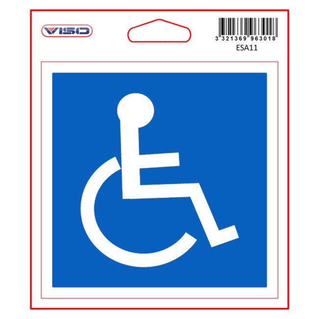 1 Disque Autocollant Personne Handicapée Ø 11,5 Cm