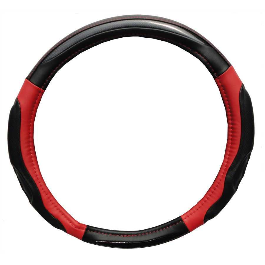 Couvre volant NORAUTO Tuning carbone/ rouge