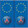 2 stickers autocollants PSG logo Europe