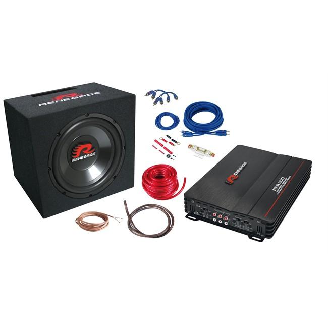 Kit Caisson + Ampli + Connectique Renegade Rxv1200 Et Rxa1100