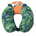 Cale-nuque microbilles HAPPY TRIP motif tropical avec masque de repos