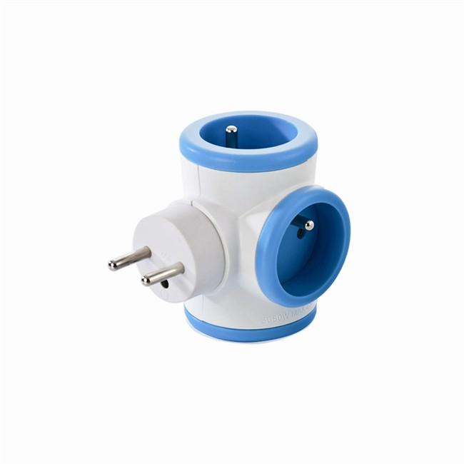 Bloc Prise Triplite 3 X 16 A Rotatif Bleu Watt&co