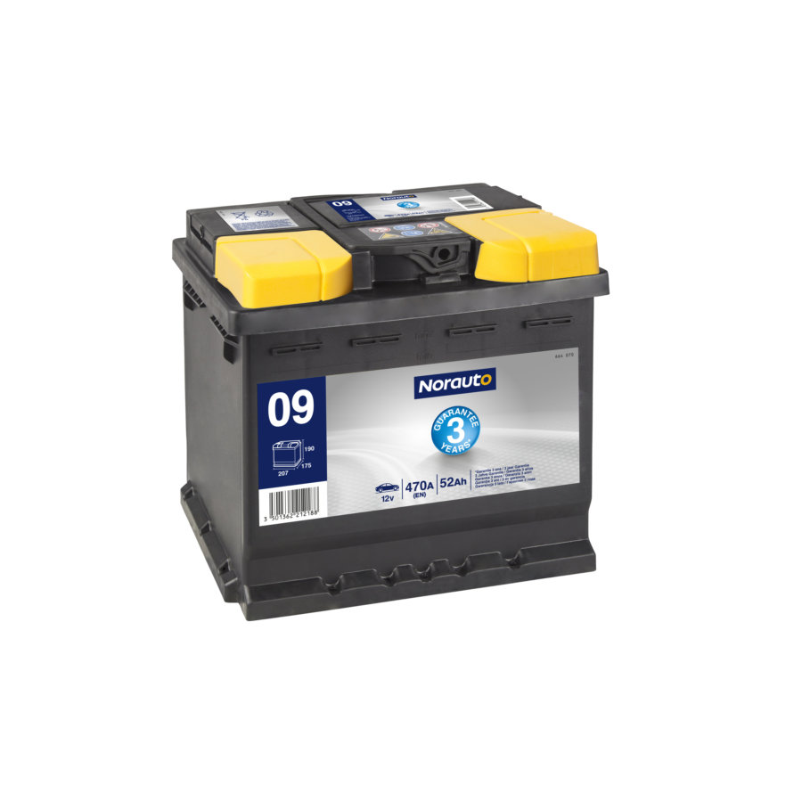 Batterie NORAUTO BV09 52 Ah - 470 A