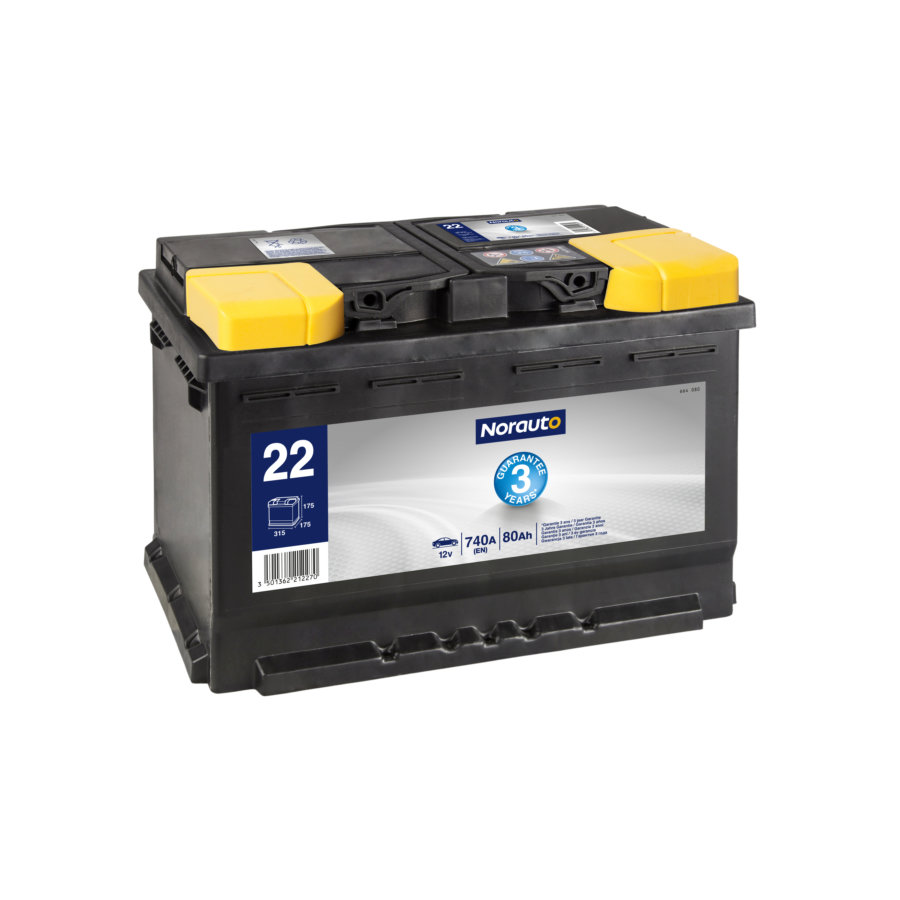 Batterie NORAUTO BV22 80 Ah - 740 A