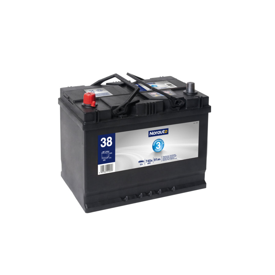 Batterie NORAUTO BV38 91 Ah - 740 A