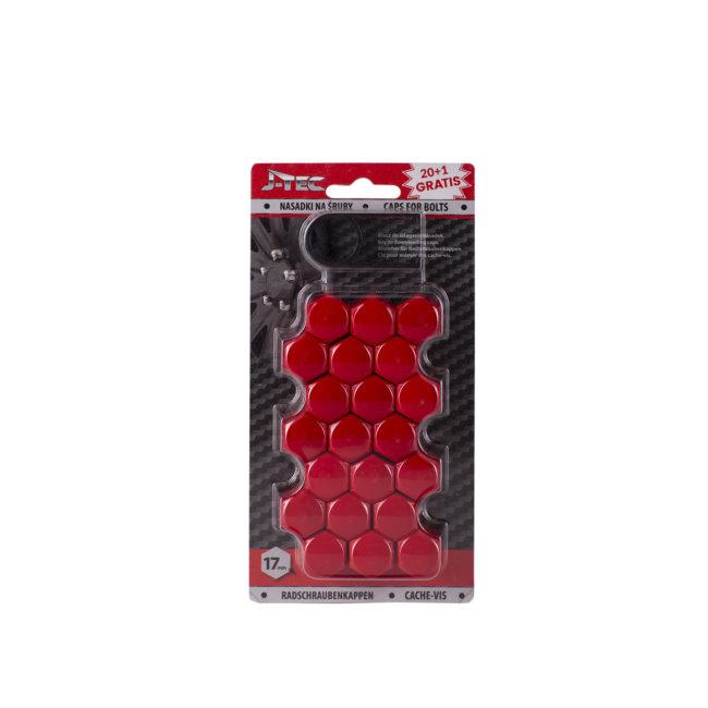 21 Couvres Boulons Rouges Diamètre 17