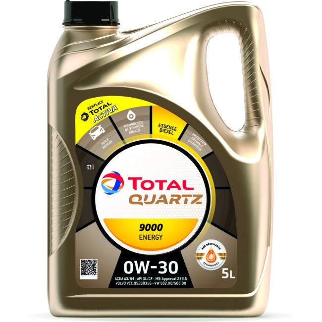 Huile Moteur Total 9000 Energy 0w30 Essence Et Diesel 5 L