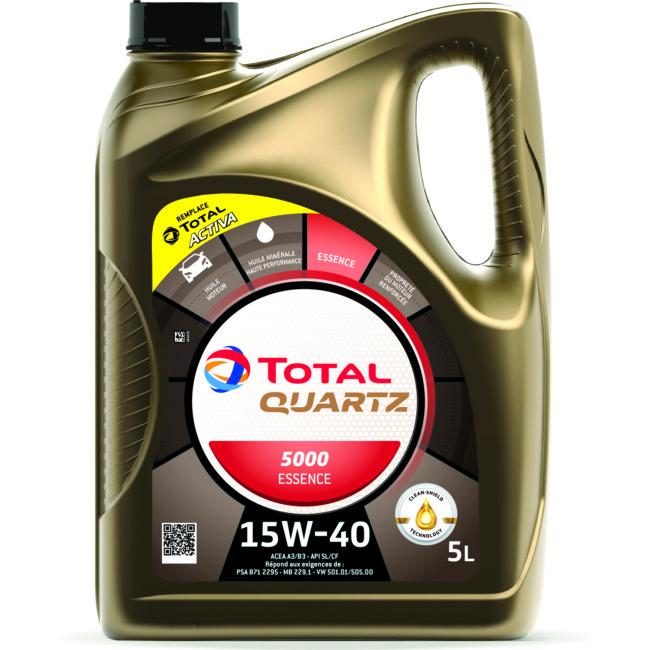 Huile Moteur Total Quartz 5000 15w40 Essence 5 L