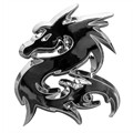 1 badge autocollant chromé CADOX Dragon