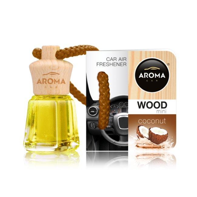 Désodorisant Voiture Aroma Wood Bottle Senteur Noix De Coco 4ml