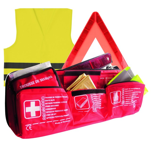 Pack Luxe Triangle + Gilet + Pharmacie + Couverture Survie