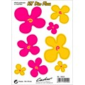 8 stickers autocollants CADOX Flowers rose et jaune