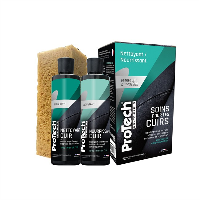 Kit Soin Pour Cuir Protech 2 X 250 Ml