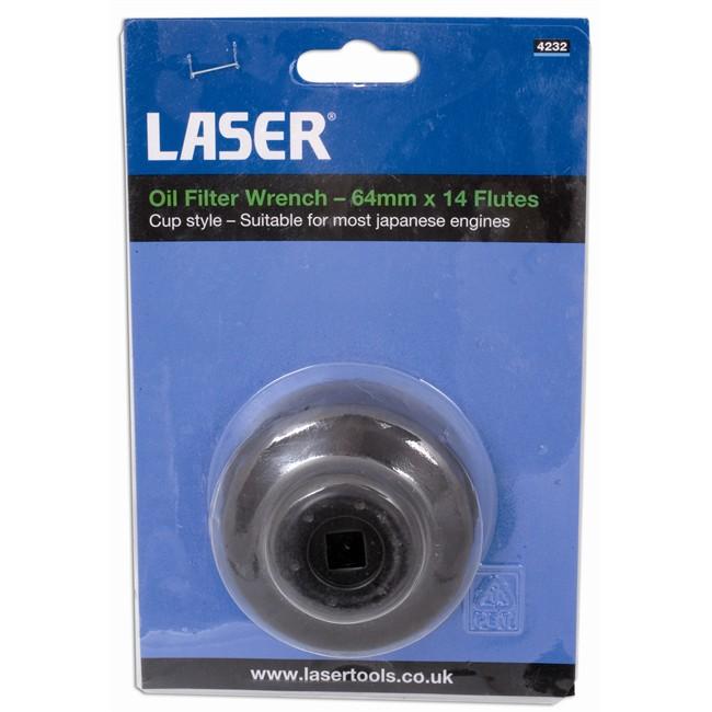 Clé De Filtre À Huile 65 Mm Carré 3/8'' Laser 4954