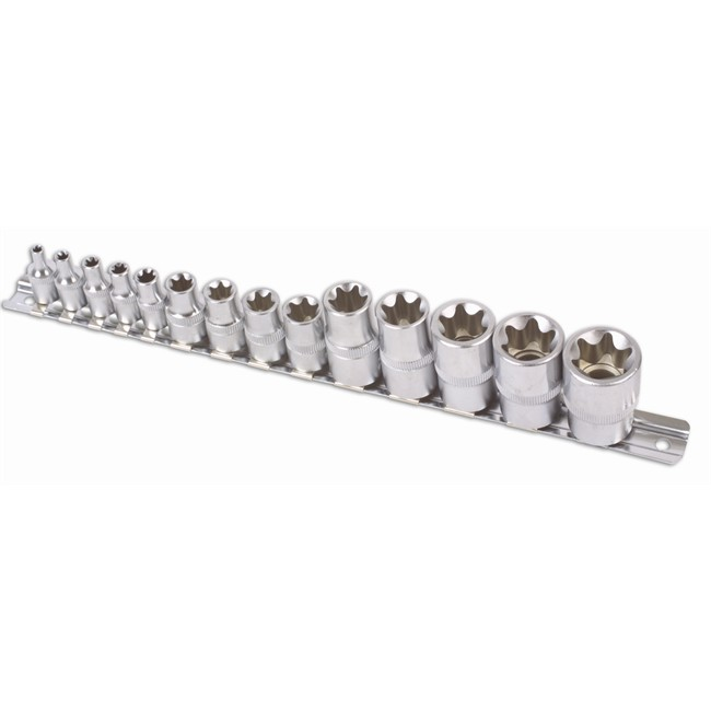 14 Douilles Torx T4-t24 Carrés 1/2'', 1/4'' Et 3/8'' Laser 5303