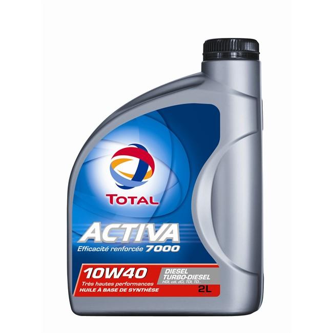 Huile Moteur Total Activa 7000 10w40 Diesel 2 L