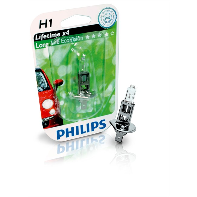 1 Ampoule Philips H1 Longlife Ecovision 35 W 12 V