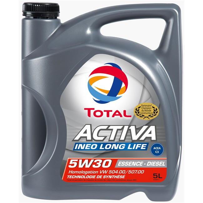 Huile Moteur Total Activa Ineo Long Life 5w30 Essence Et Diesel 5 L