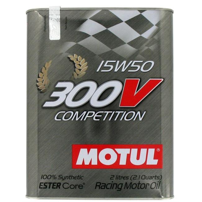 Huile Moteur Motul 300v Competition 15w50 Essence Et Diesel 2 L