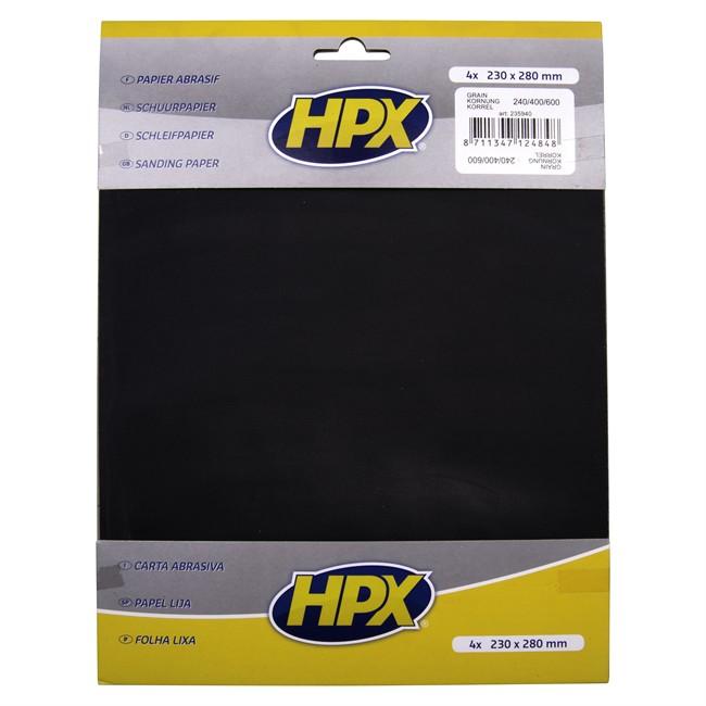 4 Feuilles De Papier Abrasif Hpx À L'eau P240/p400/p600
