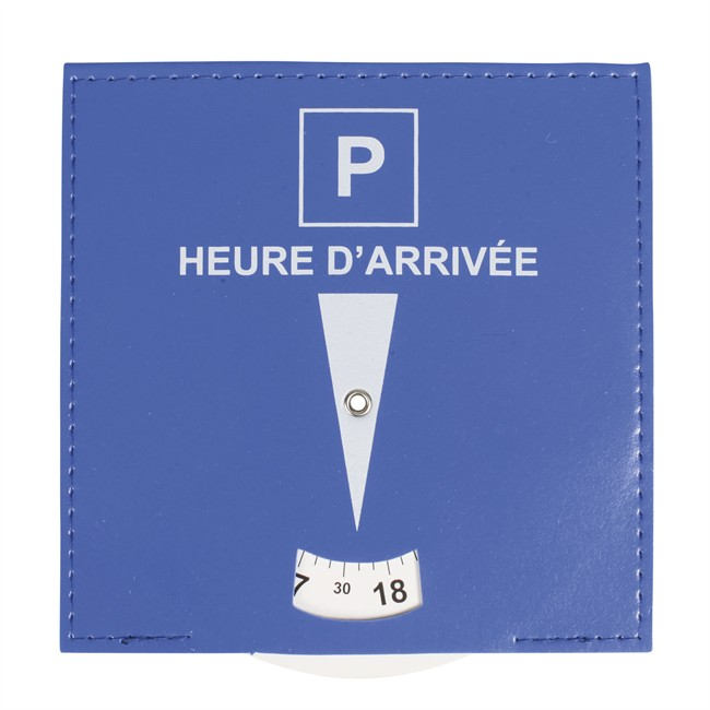 1 Disque De Stationnement Zone Bleue 15 X 15 Cm En Pvc Effet Cuir À Poser