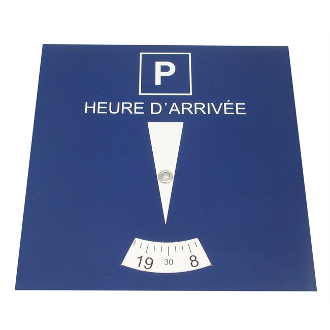 1 Disque De Stationnement Zone Bleue 15 X 15 Cm En Carton À Poser