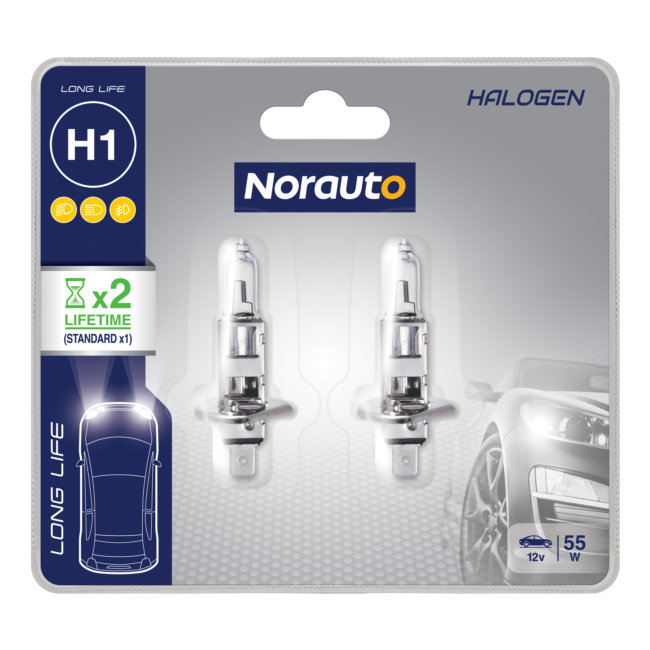 2 Ampoules H1 Norauto Longlife