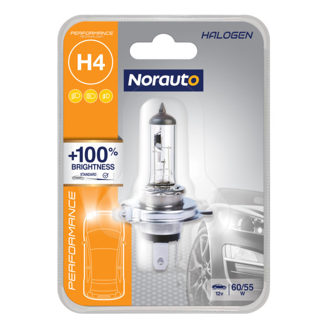 1 Ampoule H4 Norauto Performance +100%