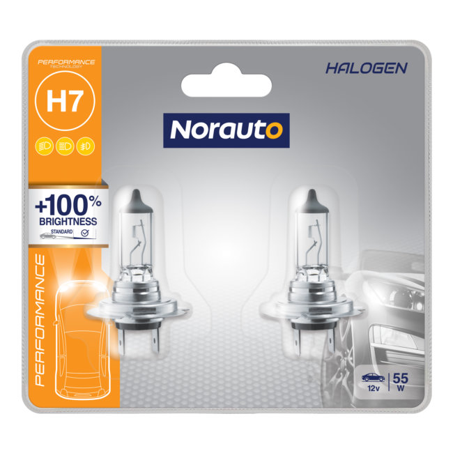 2 Ampoules H7 Norauto Performance +100%