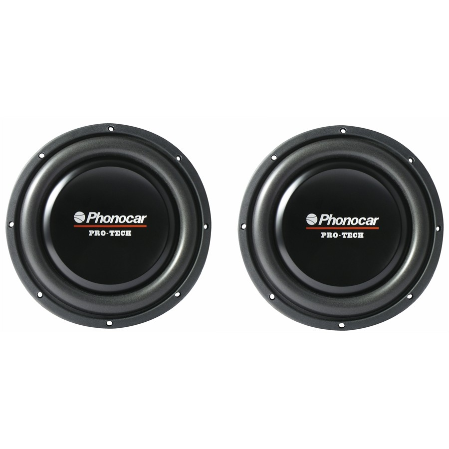 2 subwoofers PHONOCAR 2648 Pro Tech