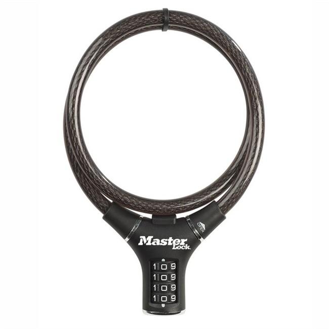 Câble Antivol À Combinaison Masterlock Noir 90 Cm Pour Vélo