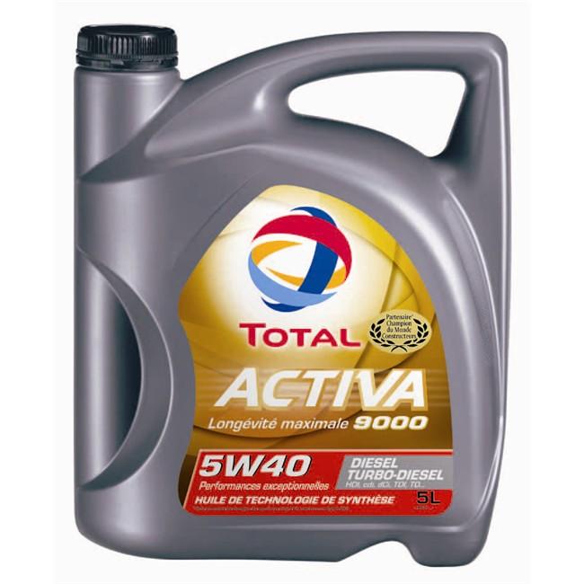 Huile Moteur Total Activa 9000 5w40 Diesel 5 L