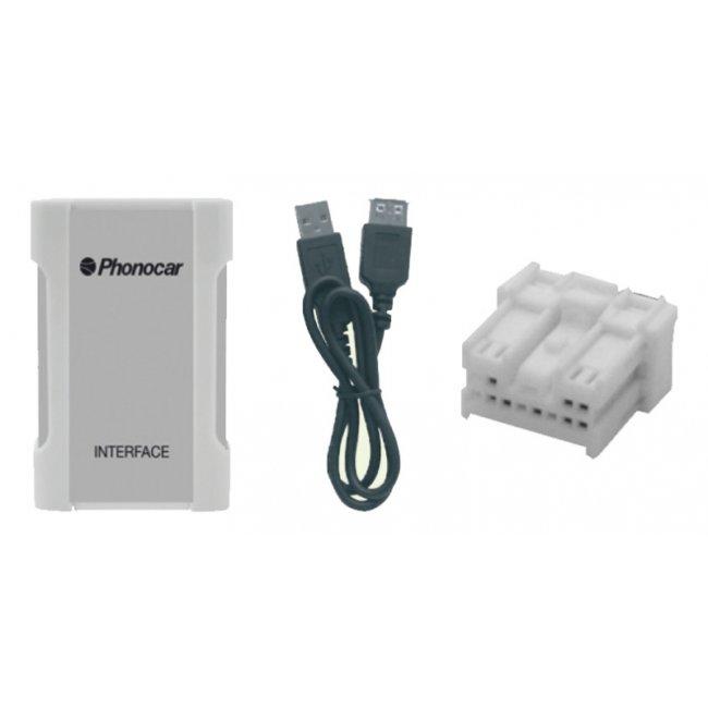 Interface Audio De Connexion Usb Phonocar Via Changeur De Cd Sd - Mp3 - Ipod - Iphone>4s, Compatible Avec Nissan Ref. 05892