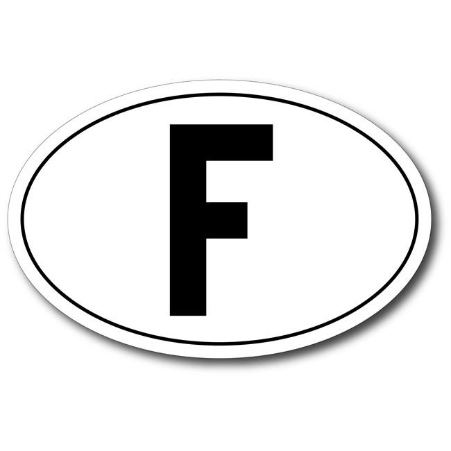 1 Autocollant France Ovale 17,5 X 11,5 Cm Autocollant