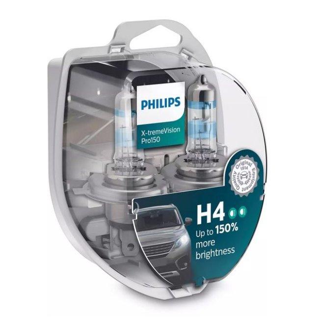 2 Ampoules Philips H4 X-treme Vision Pro150 12v 60/55w
