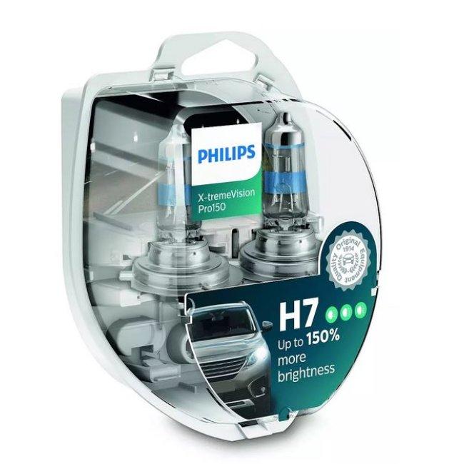 2 Ampoules Philips H7 X-treme Vision Pro150 12v 55w