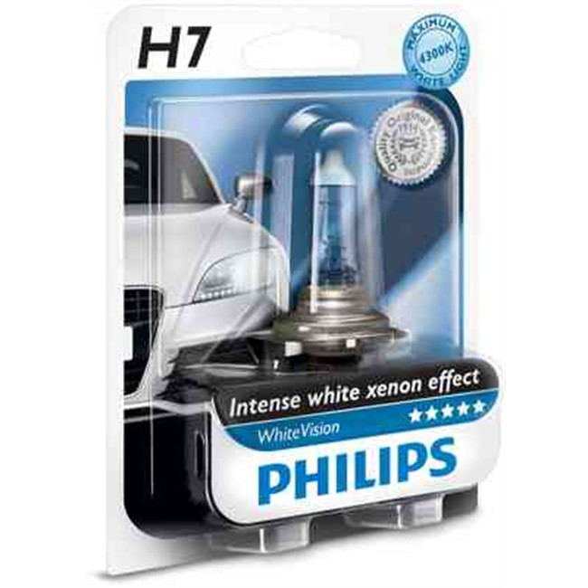 1 Ampoule Philips H7 Whitevision 12 V