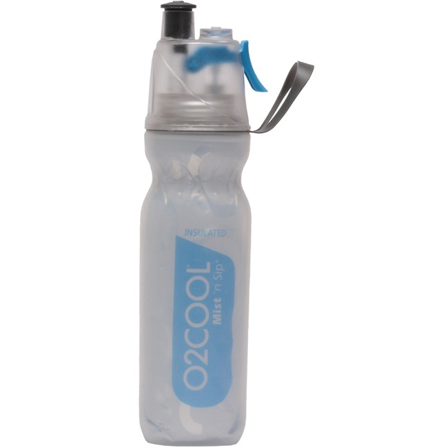 Améliorer Le Confort à Bord Glacières Et Ventilateurs Gourde Isotherme Bleue Avec Brumisateur Intégré O2cool 05 L