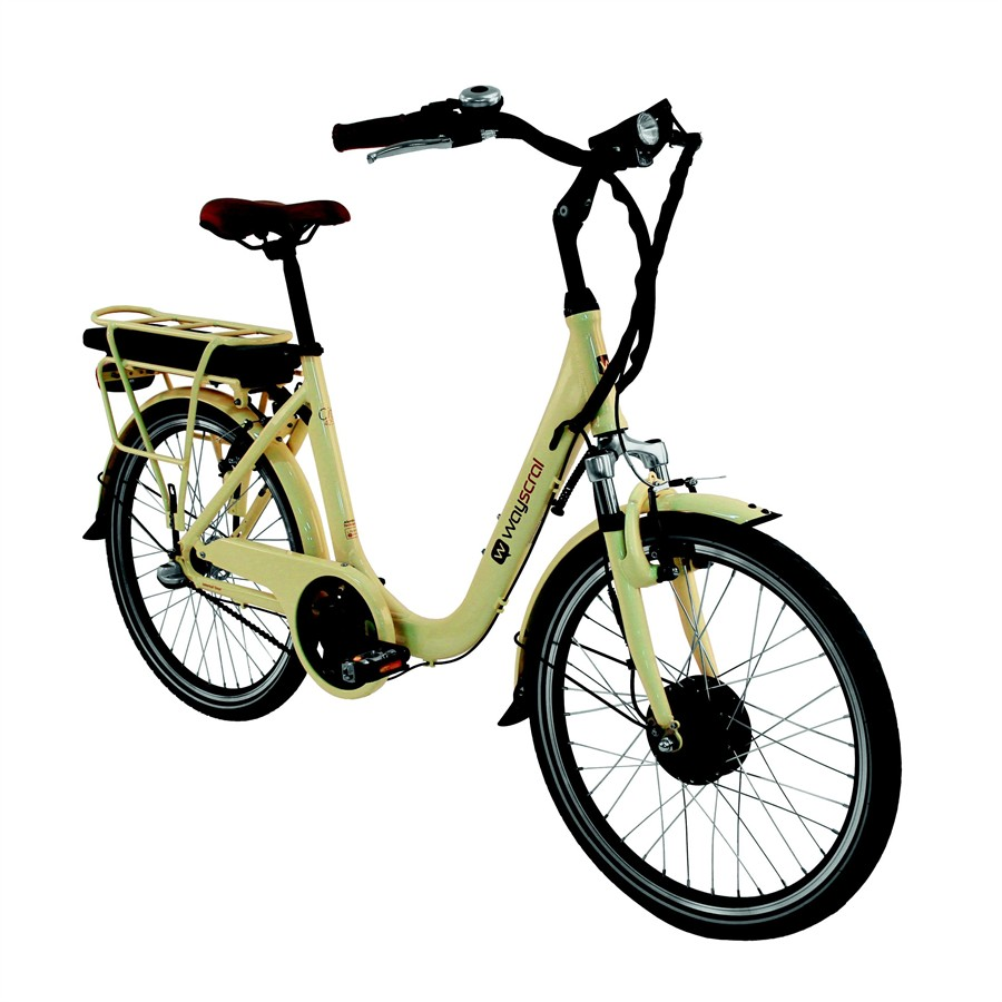 Vélo électrique Wayscral City 425 vanille (batterie non incluse)