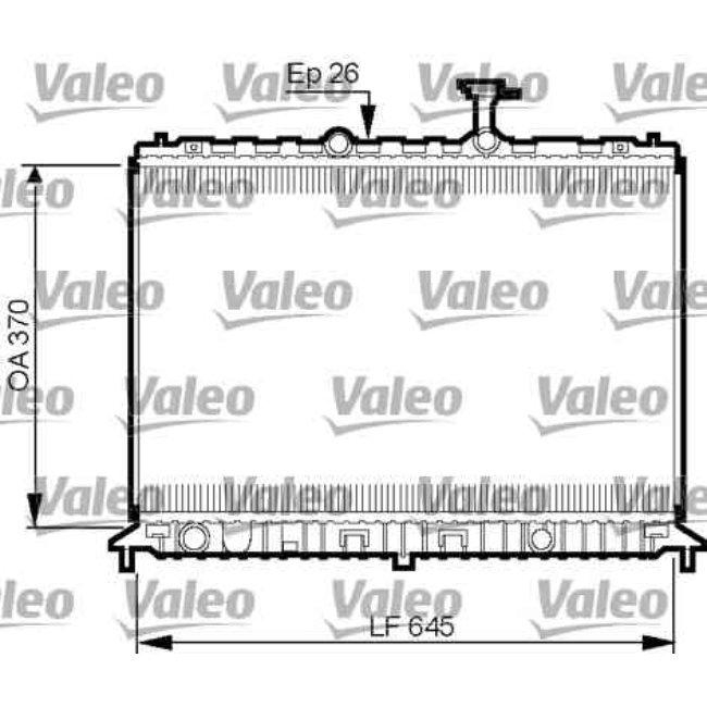 Radiateur De Refroidissement Valeo 735501
