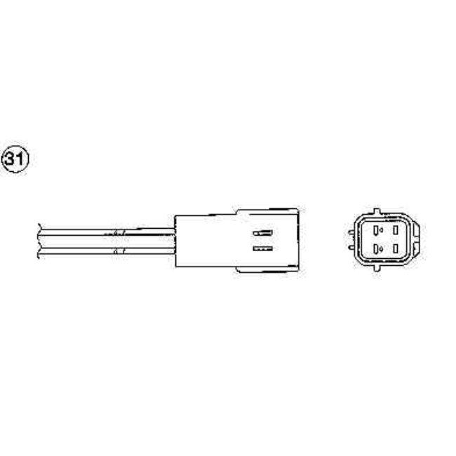 Sonde Lambda Ngk Oza603-n4